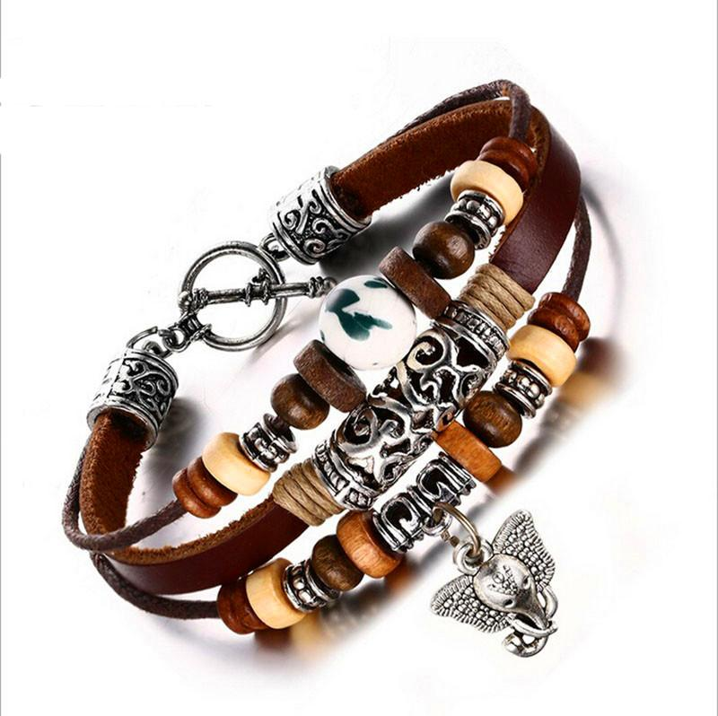 Multi Layer Good Luck Elephant Charm Bracelet Charm Bracelets Bamos Official Store