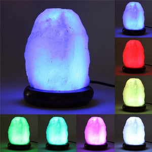 7 Color LED Natural Himalayan Natural Salt Lamp Novelty Lighting Teamtop IC Store