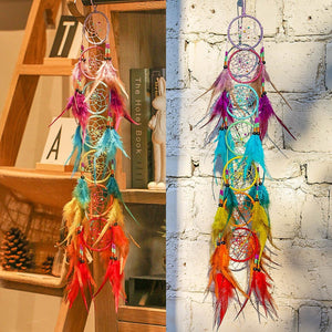 7 Chakra Muladhar Feather DreamCatcher H&D Crystal 1