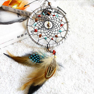 Indian Style Dream Catcher with Feather Pendant Wind Chimes & Hanging Decorations HC Arts&Crafts Store
