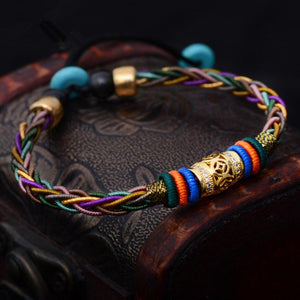 Good Luck Eight strand Retro Sai Sin Totem Bracelet Strand Bracelets LKO Official Store