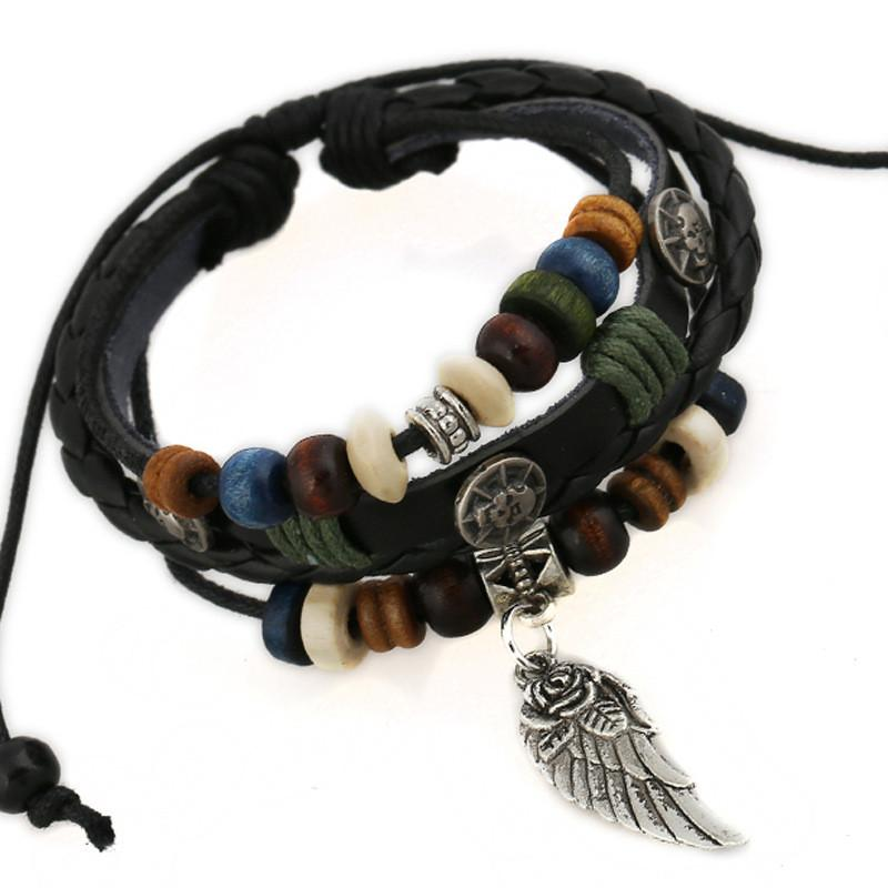 Multi Layer Wing of Protection Bracelet O&C Fashion Shop