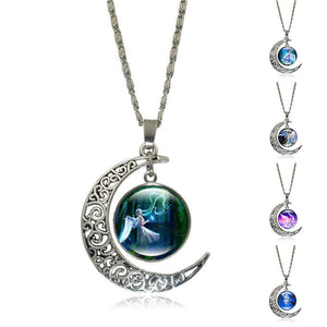 Crescent Moon Angel Pendant Crescent Moon Fashion trends boutiques