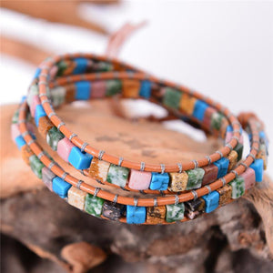 2 Strand Natural Agate Friendship Bracelets YGLINE Store color1
