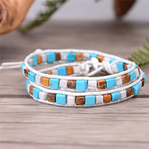 2 Strand Natural Agate Friendship Bracelets YGLINE Store color3