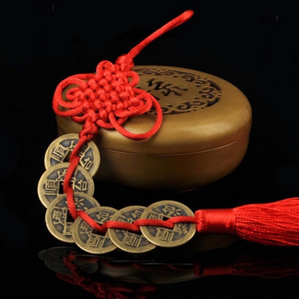 red chinese knot feng shui wealth success coins decor. Black Bedroom Furniture Sets. Home Design Ideas