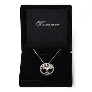 Tree Of Life 925 Sterling Silver + Topaz Necklaces BONLAVIE Jewellery Store
