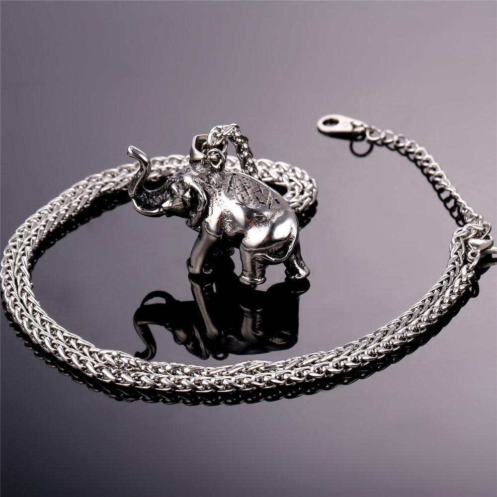 elephant bonas oliver silver large necklace origami jewellery