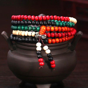 Multicolor All Natural Bodhi Root Mala UBEAUTY Trendy Store