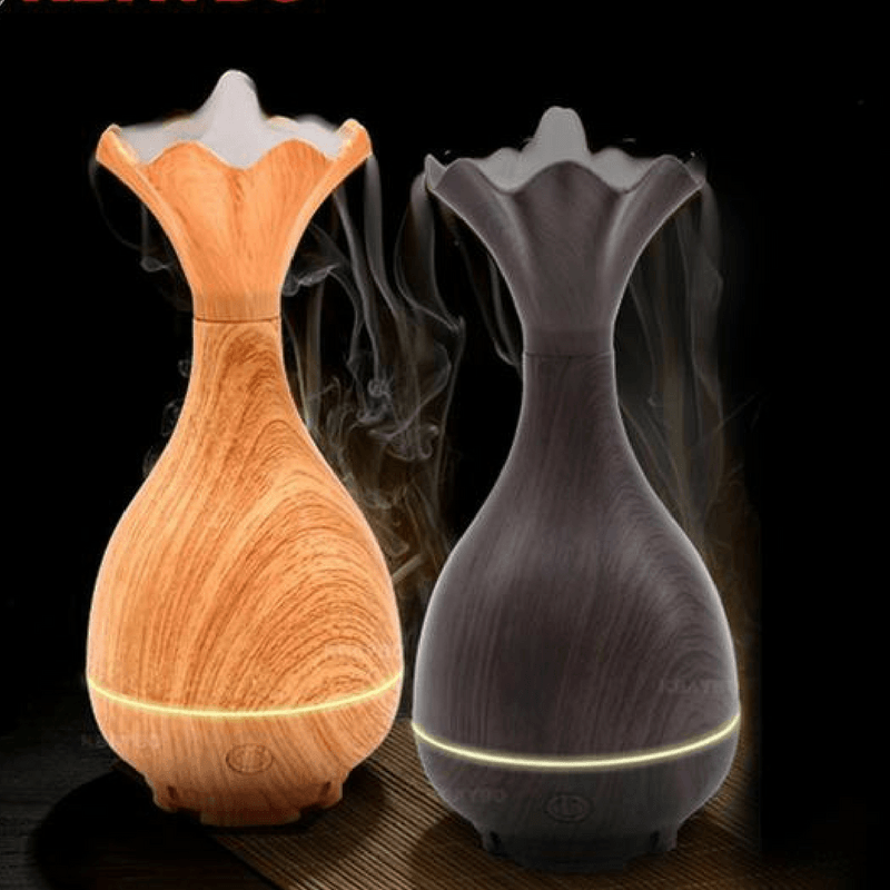 Wood Grain Magic Bottle Aromatherapy Essential Oil Diffuser and Humidifier Humidifiers KBAYBO Official Store