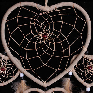 Handmade 5 Circles Love Heart Dream Catcher Wind Chimes & Hanging Decorations Common Truth