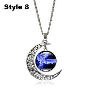 Crescent Moon Angel Pendant Crescent Moon Fashion trends boutiques Style 8