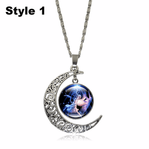 Crescent Moon Angel Pendant Crescent Moon Fashion trends boutiques Style 1