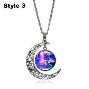 Crescent Moon Angel Pendant Crescent Moon Fashion trends boutiques Style 3