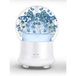 Ultrasonic Flower Aromatherapy Diffuser Humidifiers ejoai Store Babysbreath Blue