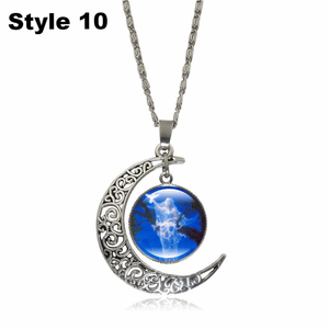 Crescent Moon Angel Pendant Crescent Moon Fashion trends boutiques Style 10