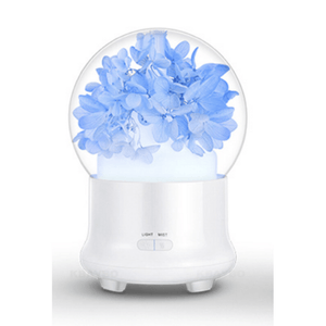 Ultrasonic Flower Aromatherapy Diffuser Humidifiers ejoai Store Blue