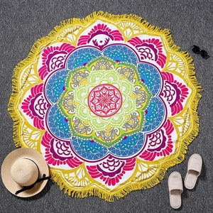 Bright and Colorful BOHO Indian-Style Mandala Tapestry Tapestry zenshopworld