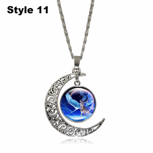 Crescent Moon Angel Pendant Crescent Moon Fashion trends boutiques Style 11