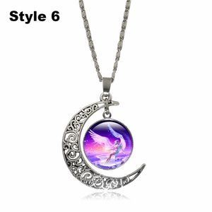 Crescent Moon Angel Pendant Crescent Moon Fashion trends boutiques Style 6