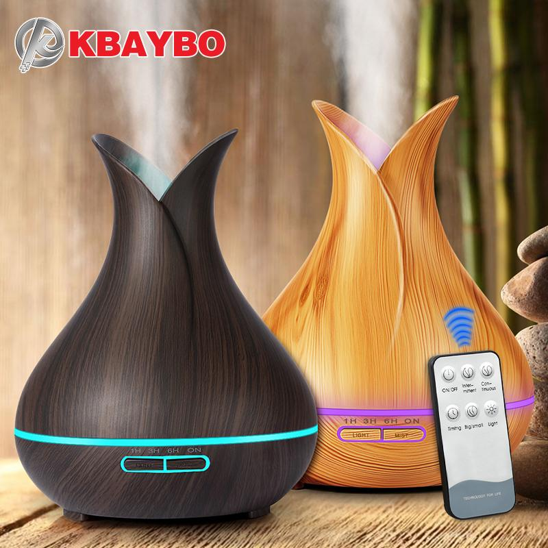 400ml Wood Grain Aroma Essential Oil Diffuser and Humidifier KBAYBO Official Store