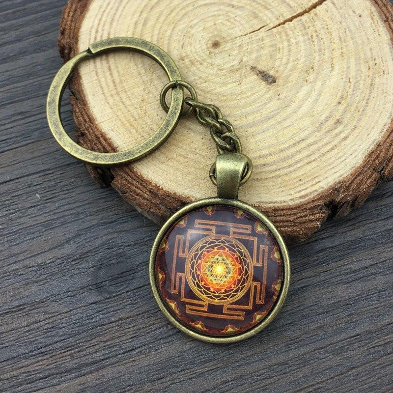 Sri Yantra Keychain Key Chains zenshopworld