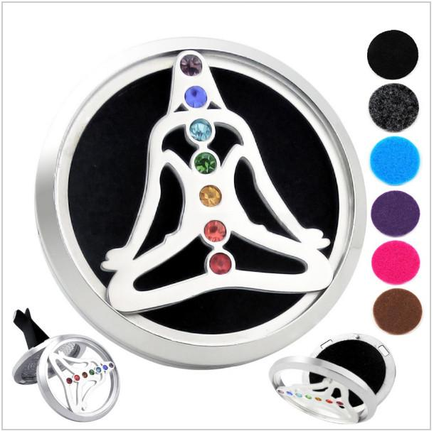 7 Chakra Buddha Car Diffuser Pendants Vicky-Home Jewelry Factory Wholesale Store