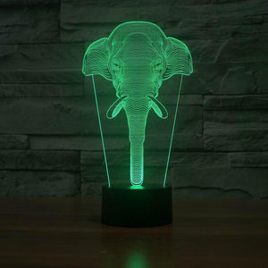 Limited Edition 3D Hologram Elephant LED Lamp zenshopworld