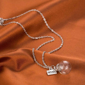 Dandelion Seed Glass Necklace magical Jewelry DirectDigitalDeals