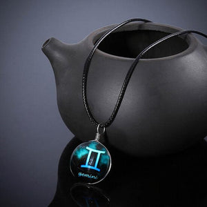 12 constellation Glass Pendant Necklace Pendant Necklaces Always Romantic Store Gemini