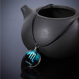 12 constellation Glass Pendant Necklace Pendant Necklaces Always Romantic Store Scorpio
