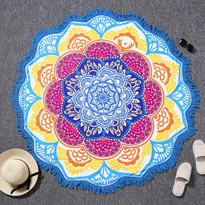 Bright and Colorful BOHO Indian-Style Mandala Tapestry Tapestry zenshopworld Blue Yellow