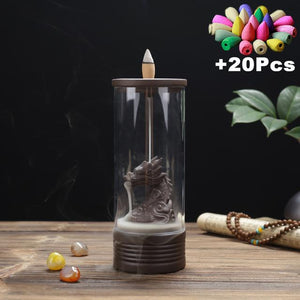Enclosed Backflow Incense Burners Incense & Incense Burners TINYPRICE Store Wave 4 - Dragon