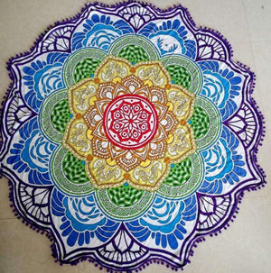 Bright and Colorful BOHO Indian-Style Mandala Tapestry Tapestry zenshopworld Purple Ball