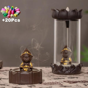 Enclosed Backflow Incense Burners Incense & Incense Burners TINYPRICE Store Wave 2