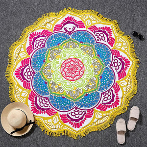 Bright and Colorful BOHO Indian-Style Mandala Tapestry Tapestry zenshopworld Yellow Purple