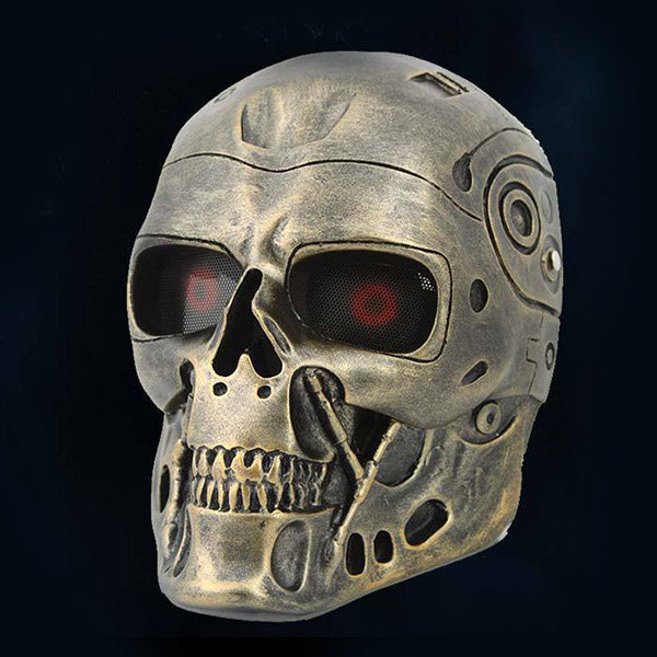 "Movie ""Terminator"" T800 Robot Skull Theme Costume Resin Mask"