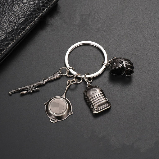 PUBG Level 3 Helmet Backpack Saucepan Keychain