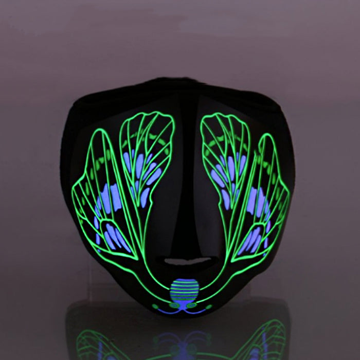 Sound Control - Butterfly Half Face LED Mask