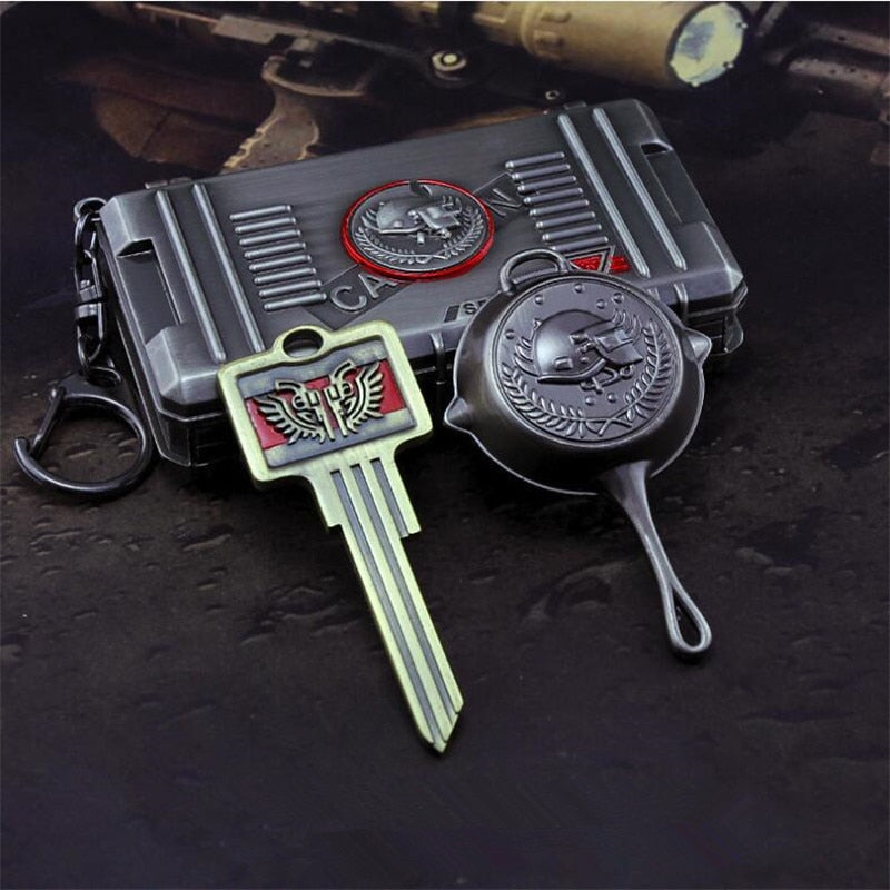 PUBG Olive Branch Treasure Box Chest Keychain