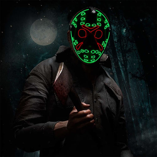 Friday the 13th - Jason Voorhees LED Golden & Silver Base Mask