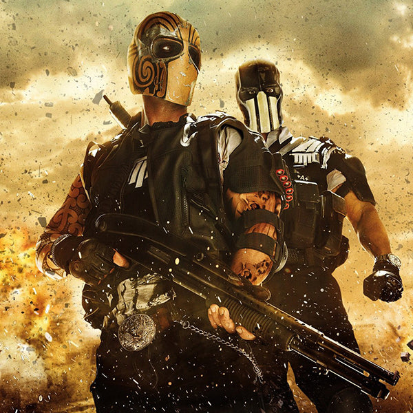 "Game ""Army Of Two"" Theme Costume Fiberglass-Resin Mask"