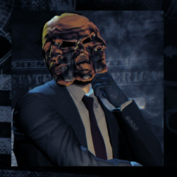 "Game ""Payday2"" Greek Tragedy Theme Costume Resin Mask"