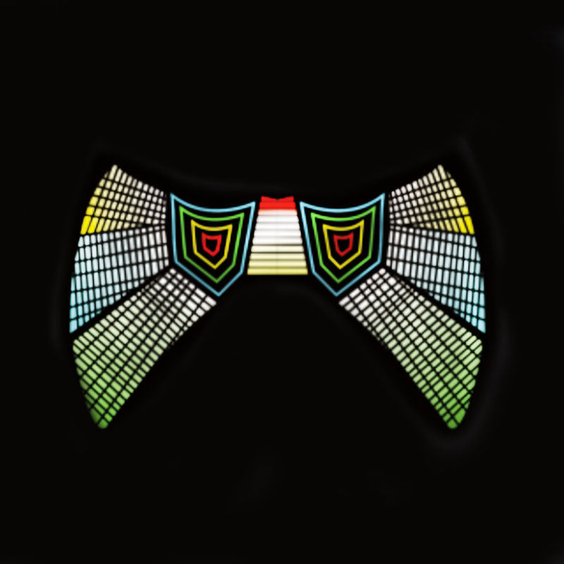 Sound Control - Psychedelic Music Style Half Face LED Mask