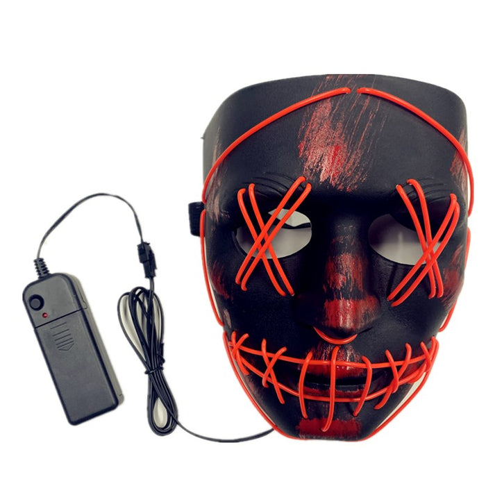 The Purge Election Year - LED Light Black & Red Base PP Masks