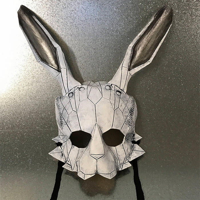 Geometric Bunny Handmade Leather Mask