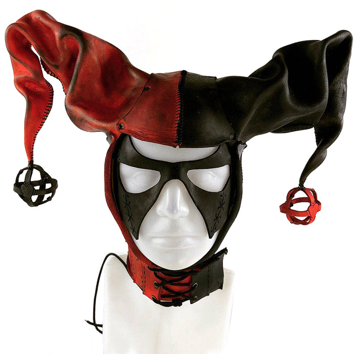 Jester Helmet Genuine Leather Mask