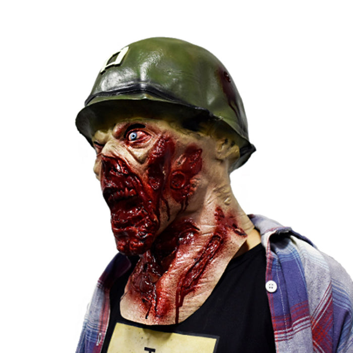 Halloween Soldier Zombie Latex Mask