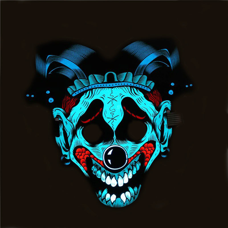 Sound Control - Cold Light LED Circus Clown Masks