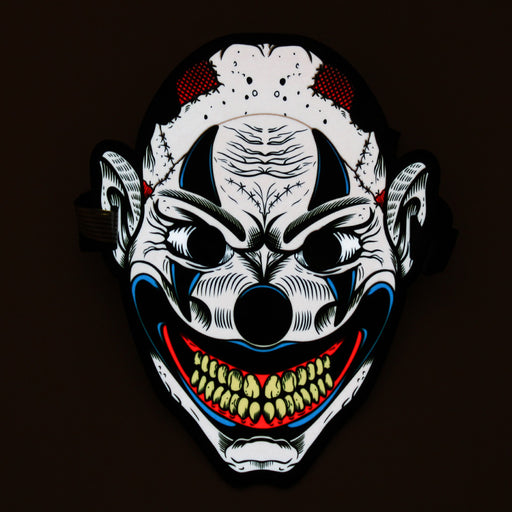 Sound Control - Cold Light LED Smile Clown Masks
